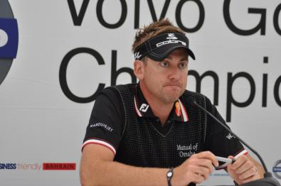 Ian Poulter at the press conference