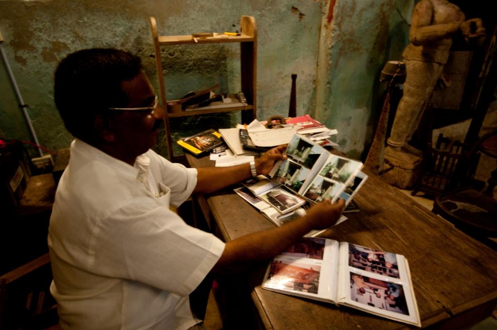 Ashraf showing some catalogues