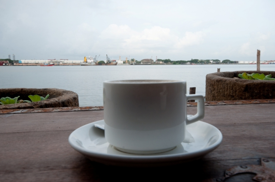 Cup of tea by the lake side