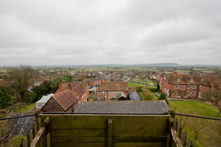 View of the Quainton village from third floor balcony