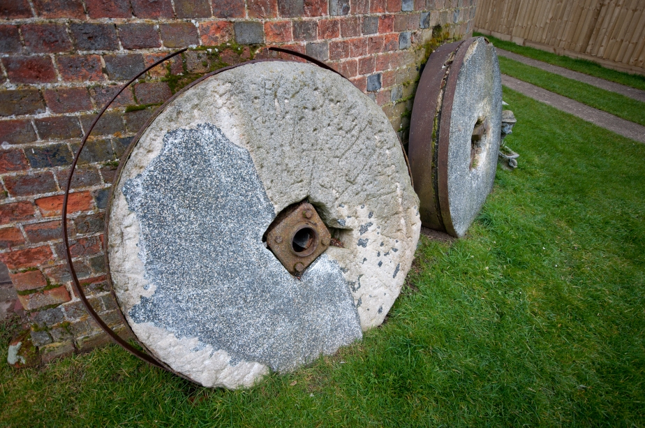 Grinding stones awaiting restoration