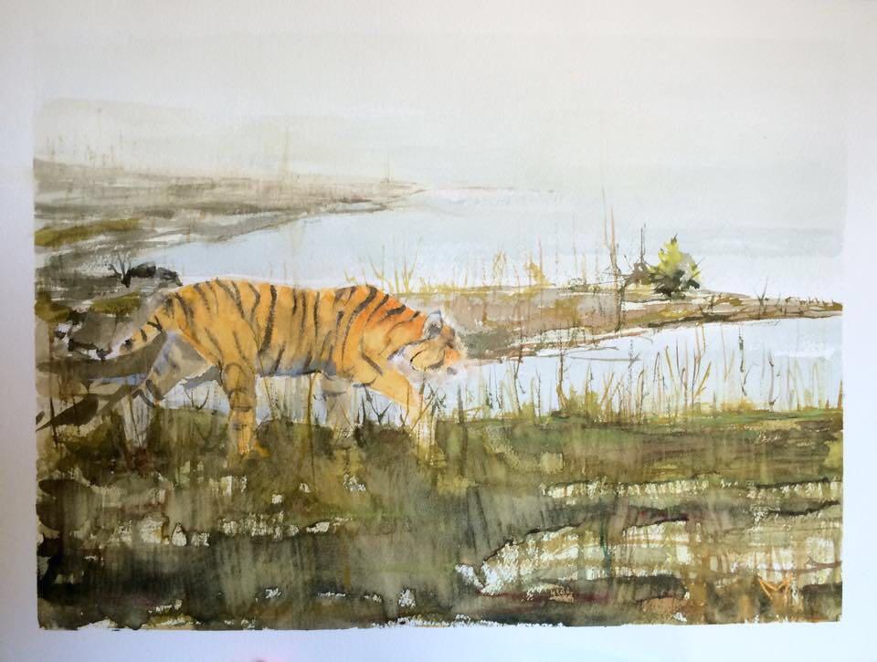 Bengal Tiger - Watercolor