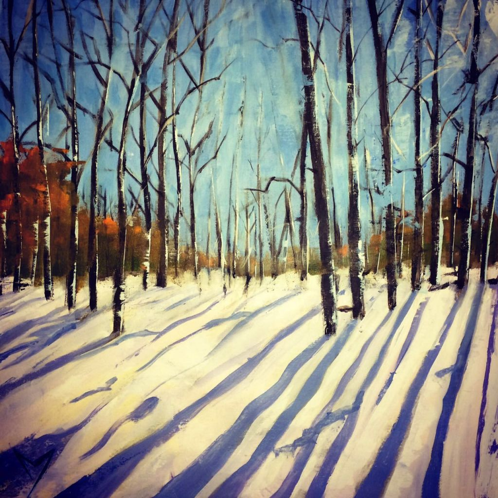 Winter Landscape - Acrylic